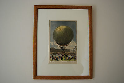 The Monster Hot Air Balloon In Paris. Print From The Graphic 17 August 1878