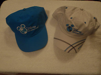 Disney Vacation Club Lot of 2 Hats/Caps 1 White & 1 Blue