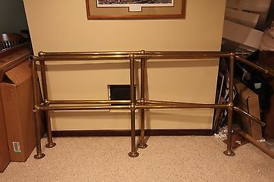 Vintage Brass Bar/pub Foot Rail Brackets