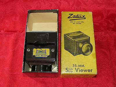 Vintage Zadiix Royal De-Luxe 35MM Slide Strip Viewer #501 ~ Bakelite