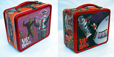 Lost in Space Metal Lunch Box / lunchbox B9 Robot Irwin Allen B-9 tin tote