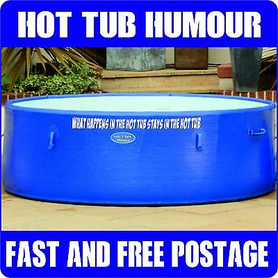 Hot Tub Humor Lay Z Spa Sticker Jacuzzi Decal Whirlpool Jokes Bubble Bath Decal