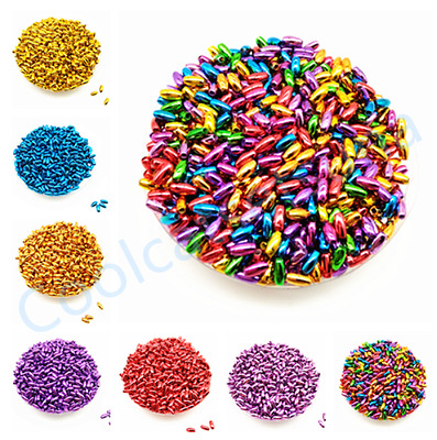 500 Pcs 3*6 mm Acrylic Small Oval spacer loose beads DIY Jewelry Findings