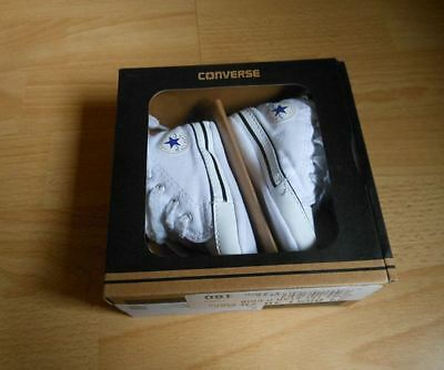 BABY BOYS CONVERSE CRIB SHOES UK SIZE 2 ,3-6 month,mint used condition