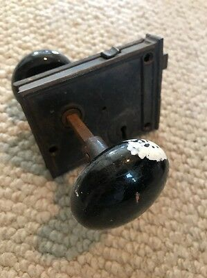 Old Rustic Door Knob And Key Plate Antique