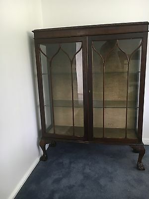 Antique Bowed Front China Display Cabinet