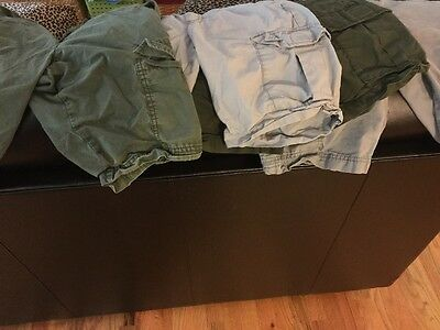 Old Navy Cargo Shorts Size 10-12 Boys - Lot Of 4 Pair