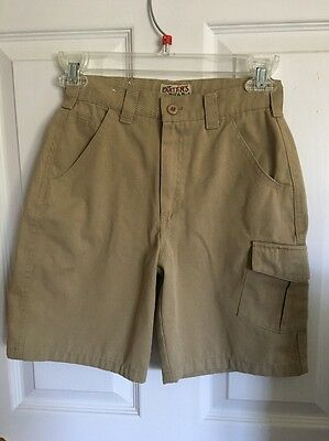 Boys Carter's Tan Cargo Shorts Size 7  VGC