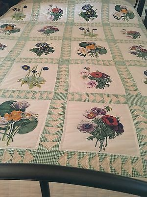 Outstanding!  Vintage 60's  QUILT 82x94 In. Excellent Condition Hand Quilted