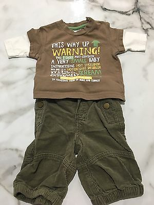 Baby Boy Cherokee Long Sleeve Top And Pants Set 0-3 Months / 0000-000