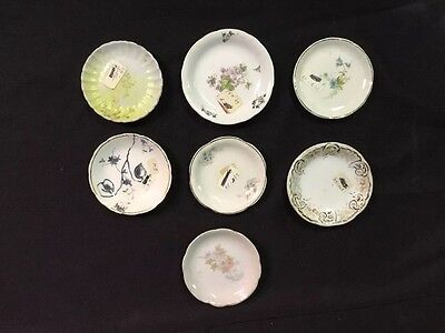 Set of 7 Vintage Butter Pats Various Styles & Makes from Dealer's Collection