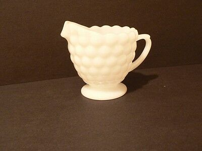 Vintage Anchor Hocking Bubble Cream Pitcher Milk Glass   (S6