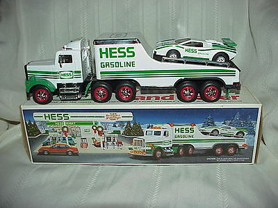 Vintage 1991 Hess Toy Truck - Lights Up - and Racer