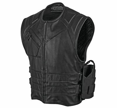 Speed & Strength Men's The Quick and the Dead Leather Vest [Small]