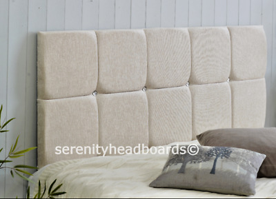 """!excellent Monaco *chenille Headboard* All Sizes & Colours In 22"""" & 26"""" Heights!"""