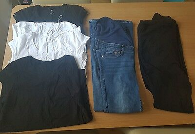 H&M Maternity skinny Jeans Size 12 14 and  leggings and t-shirts