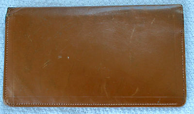 Vintage Men's Tan Calf Leather Bifold Wallet