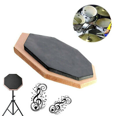 6 Inch Dumb Pad Exercise Mat Blow Plate Drummer Rubber Double