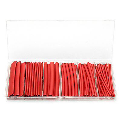 53Pcs 3:1 Adhesive Lined Red Heat Shrink Tube Sleeving 6 Sizes