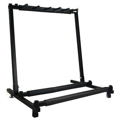 AF New 5 Way Multi Folding Guitar Rack Stand by Chord For Electric Bass Acoustic
