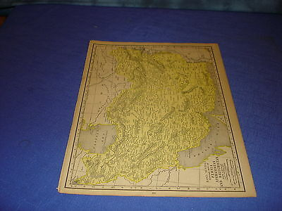 1928 map Persia,  Afghanistan, Baluchistan from Rand McNally World Atlas