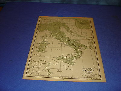 1928 map Italy  from Rand McNally World Atlas Commonwealth Edition
