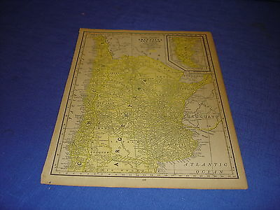 1928 map Argentina  from Rand McNally World Atlas Commonwealth Edition