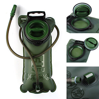 2L Bicycle Mouth Water Bladder Bag Hydration Hiking Camping