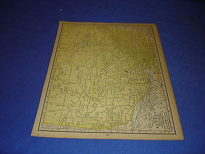 1928 map Quebec  from Rand McNally World Atlas Commonwealth Edition