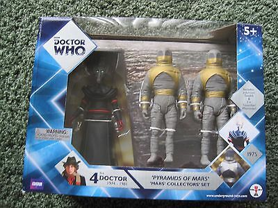 Doctor Who Pyramids of Mars (Sutekh, 2 Mummies Guardians) Action Figure Set