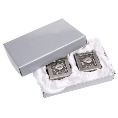 Alloy Heart Crown My First Tooth and Curl Storage Box Keepsake Memorial Gift