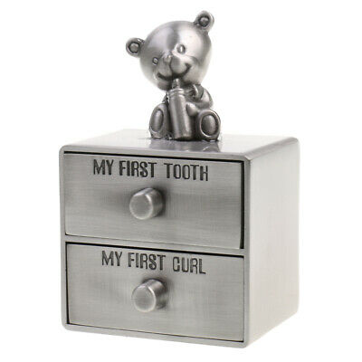 Alloy Bear My First Tooth and Curl Cabinet Lanugo Tooth House Baptism Gift