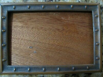 Mission Era Arts And Crafts Copper On Oak Picture Frame