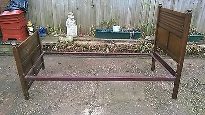 Antique Mahogany Single Bed Frames Victorian Edwardian