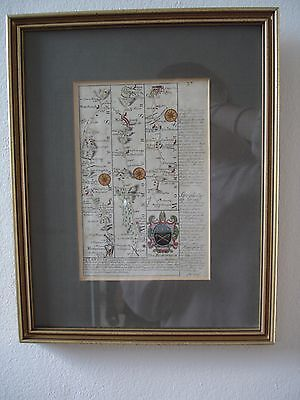 """Antique """"road map"""" Newchurch to Cardiff"""