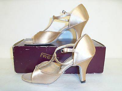 Freed Womens Latin Dance Shoes     Size 3Aa  Nude  Leather   Freed Of London