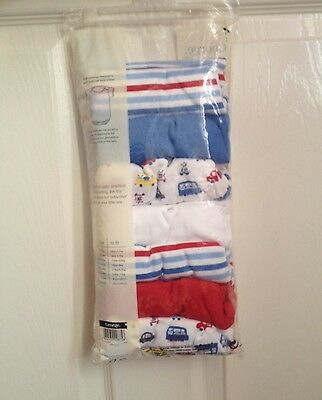 New Baby Boys Body Vests 3-6m Cars Half Sleeves Red Blue X 7
