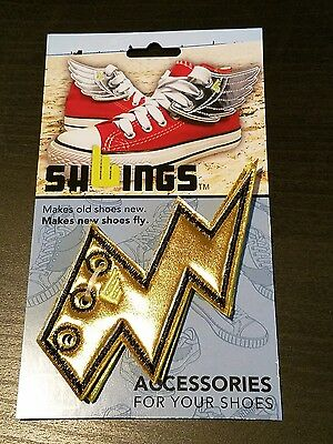 Loot Crate - SHWINGS Gold Lightning Bolt Shoe Accessories
