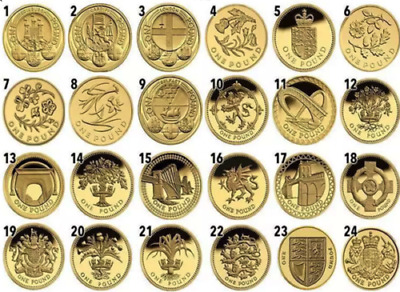 £1 One Pound Rare British Coins, Coin Hunt 1983-2015