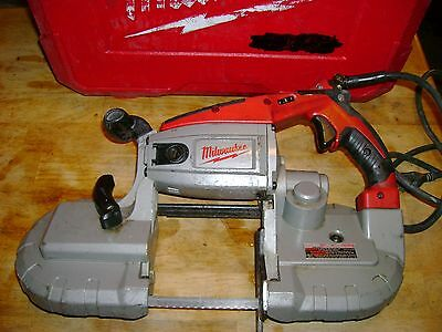 Milwaukee Hand Held Band Saw With Case And Extra Blade Cat # 6232-N Look