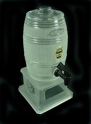 Vintage Original•Heinz 3pc•Cider/Vinegar Dispenser• Frosted and Embossed Base