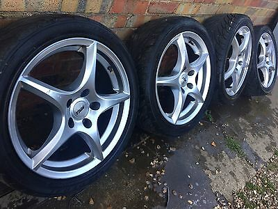 "17"" Ford Transit Connect Alloy Wheels +tyres 5x108 Focus 16 18 Volvo"