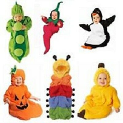Baby Fleece Romper  Pea Banana Penguin Chilli Pumpkin Sleeping Bag 0-24months