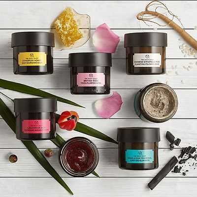 Body Shop | Face Exfoliators & Clay Masks 75ml | Cleanse Skin Control Excess Oil