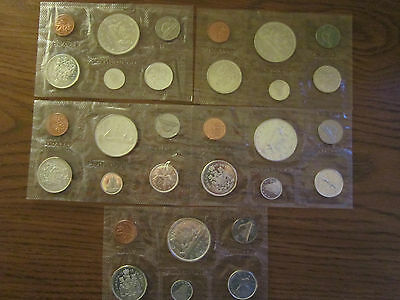 Canada 1965 Silver Prooflike coin sets Lot of 5 sets