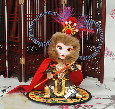 5'' Mini Handmade peking Opera Performer Q Version Figurine Monkey King
