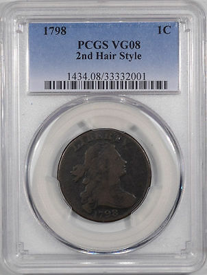 1798 Large Cent PCGS VG08 - 2nd Hair Style