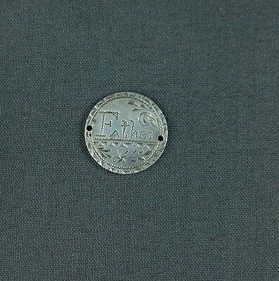 Antique Silver Love Token Engraved Father 1889 Seated Liberty Dime