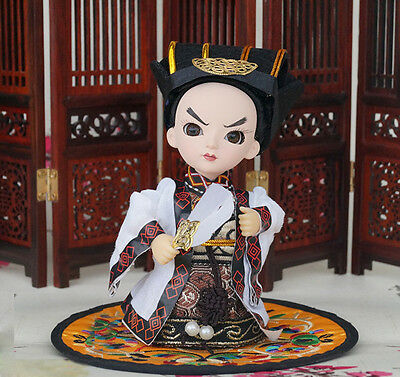 5'' Handmade Mini Q Version Figurine Asian Doll Figurine Chancellor-Zhu Geliang