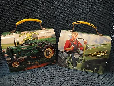 John Deere set of 2 Licensed Tin Lunch Boxes LOOK!